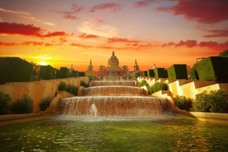 barcelona museumnational arkivbild