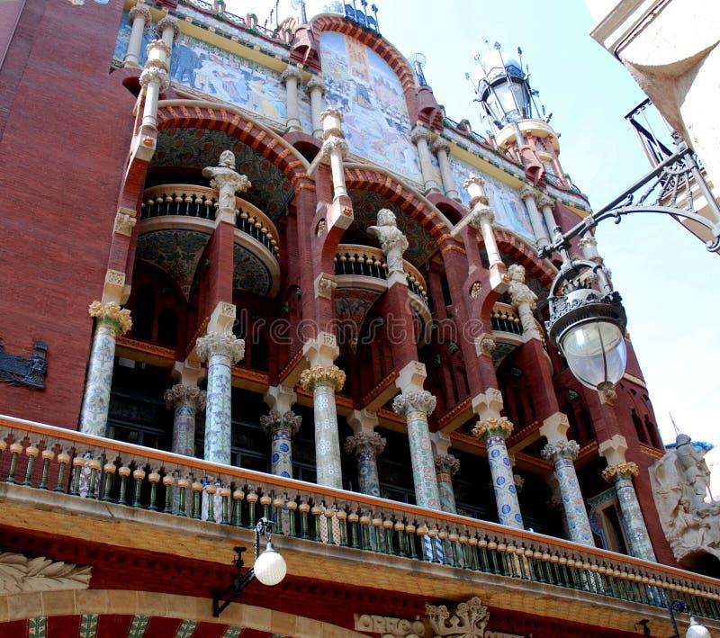 barcelona musikslott royaltyfri bild