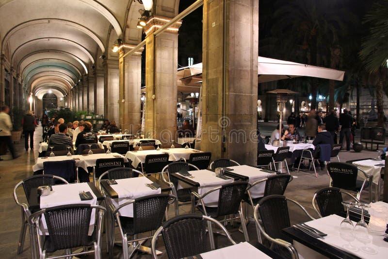 Barcelona-Nacht stockbilder