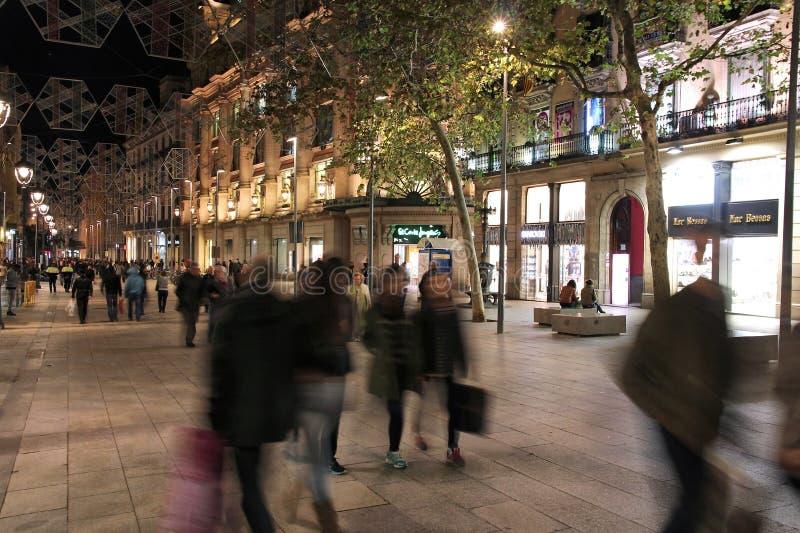 Barcelona-Nacht lizenzfreie stockbilder