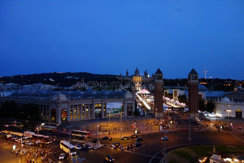 barcelona night στοκ εικόνες με δικαίωμα ελεύθερης χρήσης