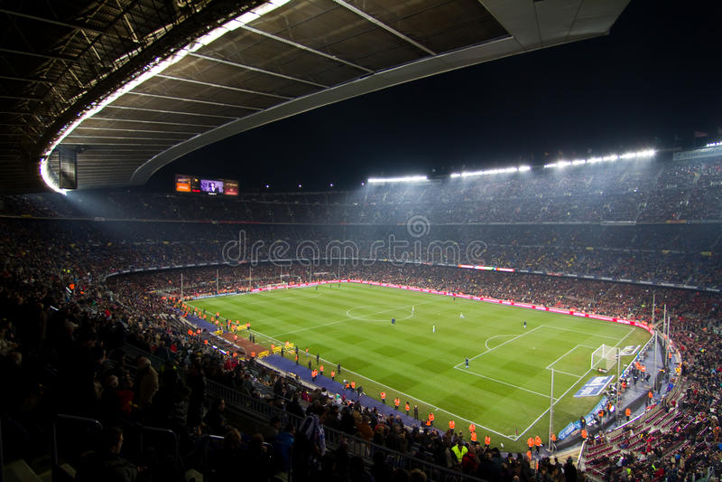 barcelona obozowy nou stadium fotografia royalty free