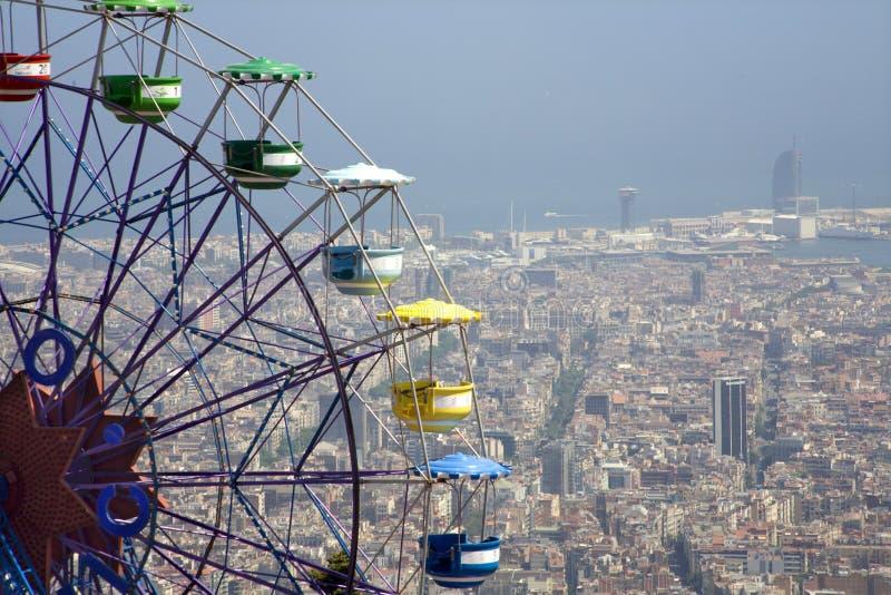 Barcelona - olhe de Tibidabo fotos de stock royalty free