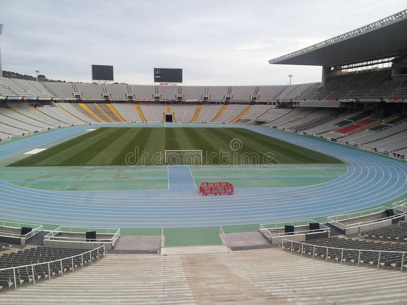 Barcelona olimpic stadium fotografia royalty free