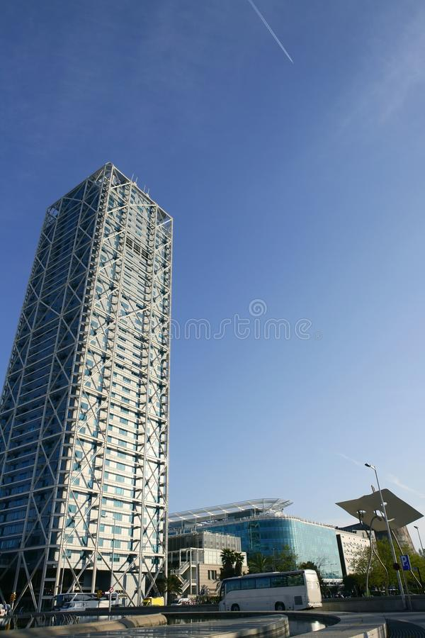 Barcelona Olimpic Villa buildings skyscrapers royalty free stock photography