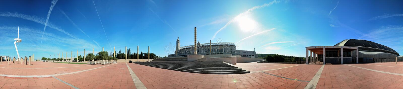 Barcelona, Olympic city, 360° panorama royalty free stock photography