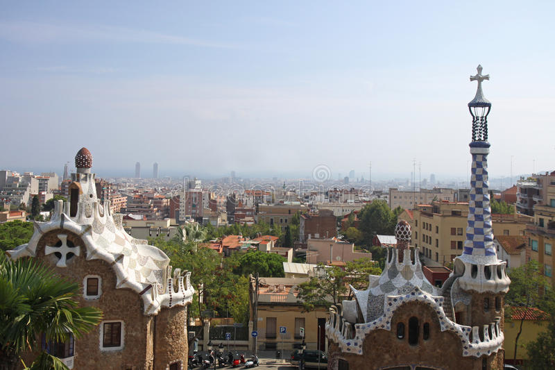 Download Barcelona Overlook stock image. Image of park, overlooking - 12223635
