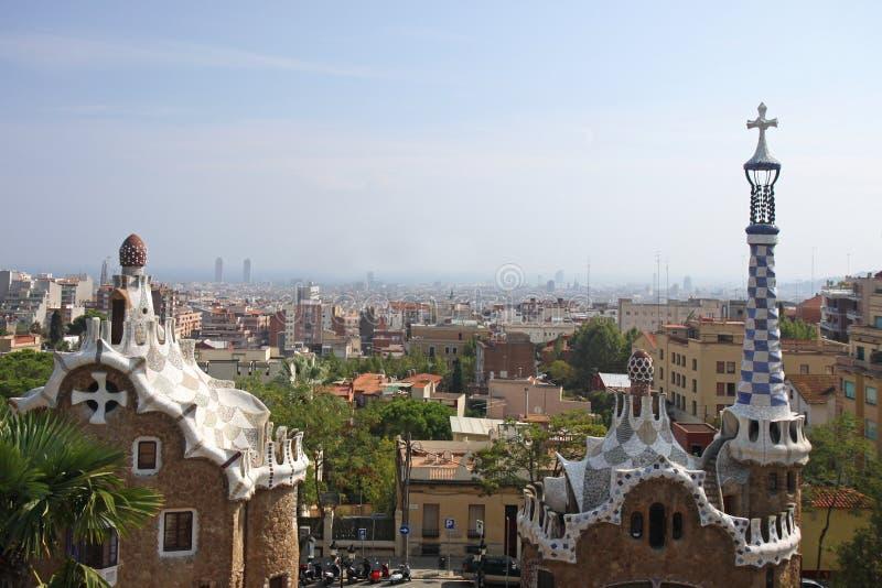 Barcelona overziet royalty-vrije stock foto