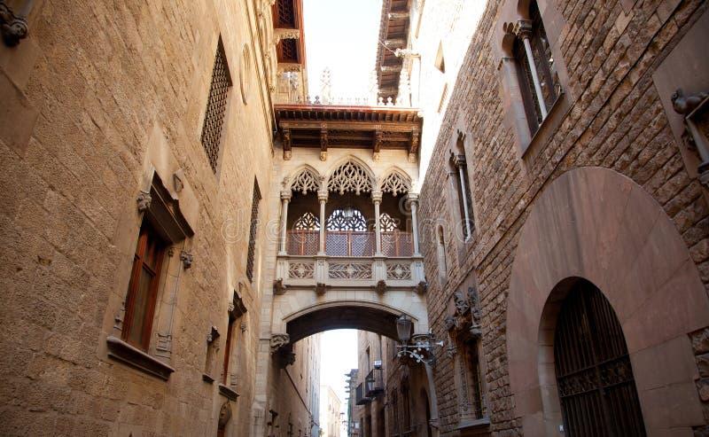 Barcelona Palau generalitat in gothic Barrio. Barcelona Palau generalitat arch corridor in gothic Barrio stock photos
