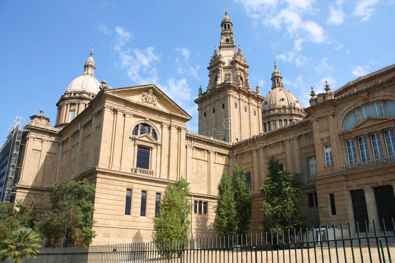 Barcelona - Palau Nacional lizenzfreie stockbilder