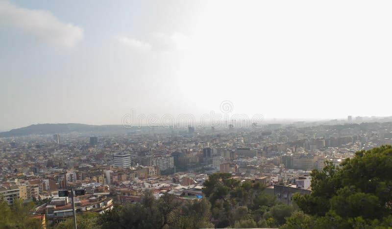 barcelona panorama- sikt royaltyfri bild