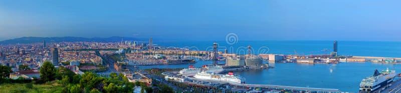 barcelona panorama Spain zdjęcie stock