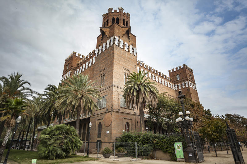 Barcelona,parc ciutadella,castle. stock images