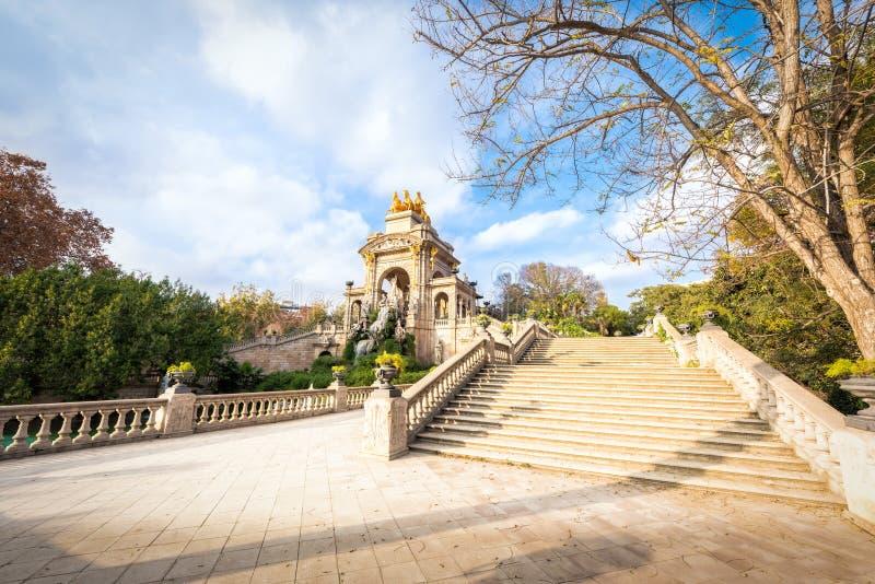 Barcelona Parc DE La Ciutadella stock afbeelding