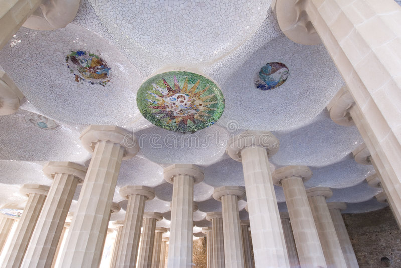 Barcelona Parc Guell royalty free stock photos