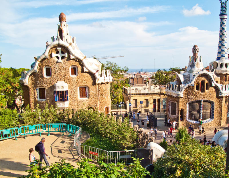 Barcelona, Parc Guell imagens de stock royalty free