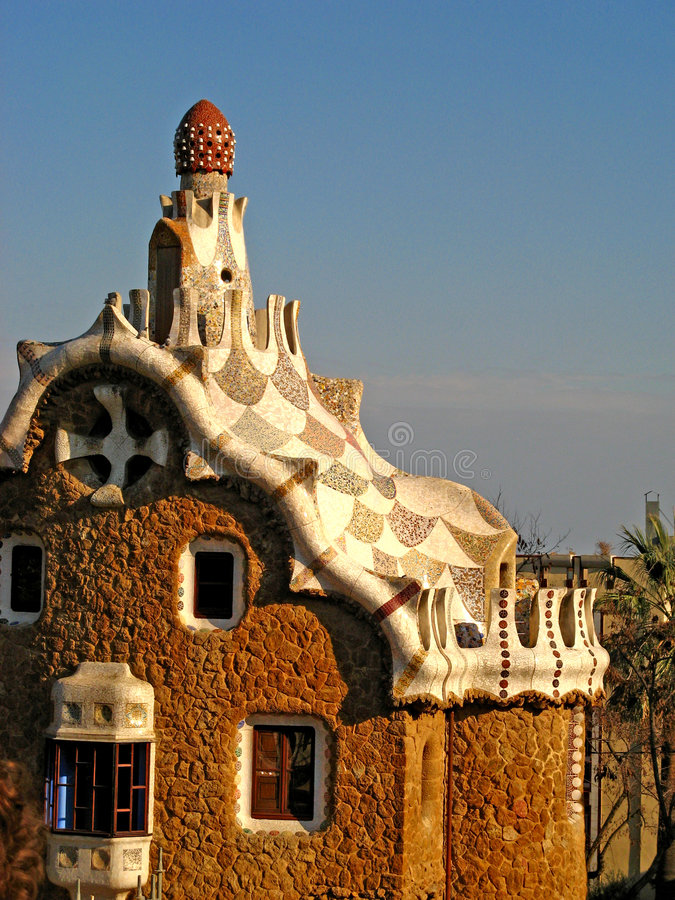 Barcelona, Park Guell 09 stock images