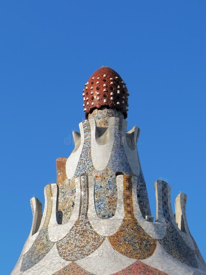 Barcelona: Park Guell, beroemd park door Gaudi royalty-vrije stock afbeeldingen
