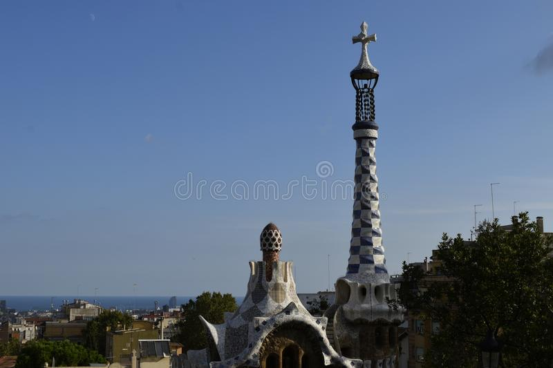 Barcelona From Park Guell royalty free stock photo
