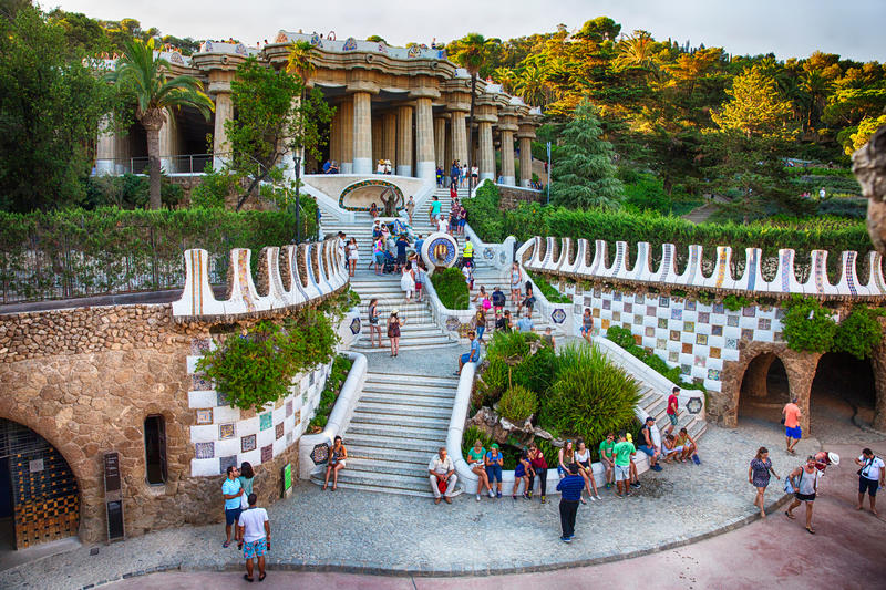 Barcelona Park Guell royalty free stock images