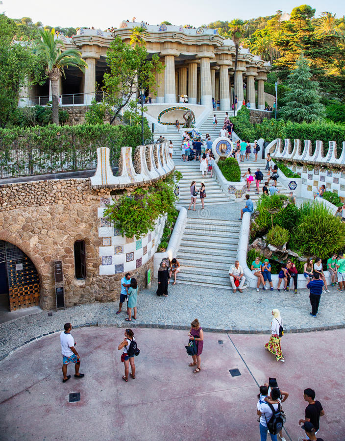 Barcelona Park Guell stock photo