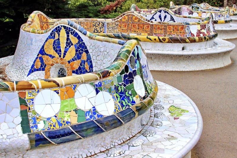 Barcelona - Parkowy Guell, Hiszpania obrazy royalty free