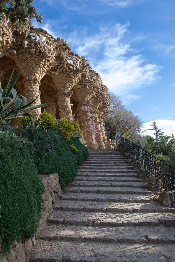 Barcelona, parque Guel da Espanha imagem de stock