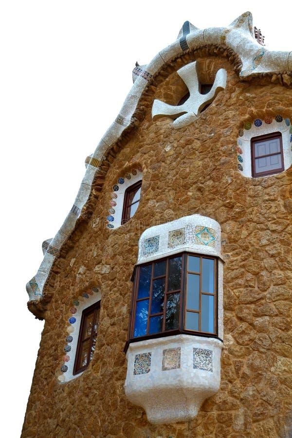 Barcelona - parque Guell - casa aislada fotos de archivo libres de regalías