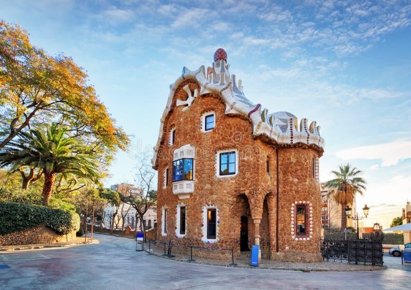 Barcelona, parque Guell, Espanha - ninguém fotos de stock