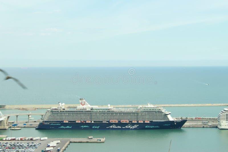 barcelona port royaltyfri fotografi