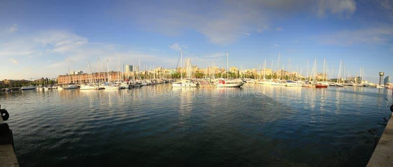 barcelona port arkivfoto