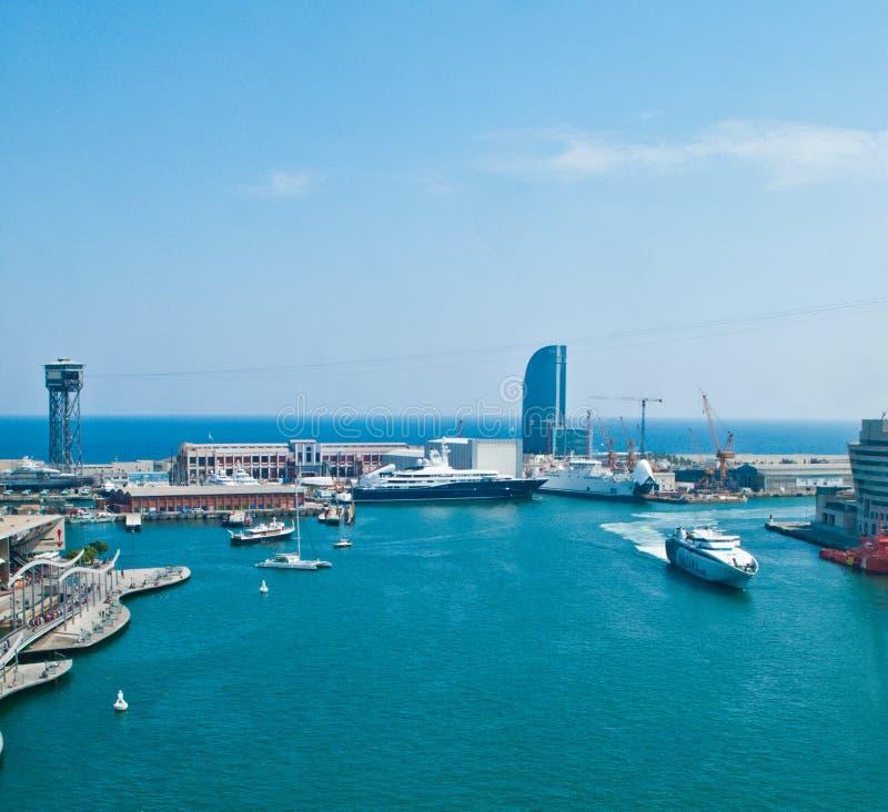 Barcelona port. Barcelona marina and port view, Spain stock photo