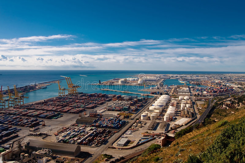 barcelona port obrazy stock
