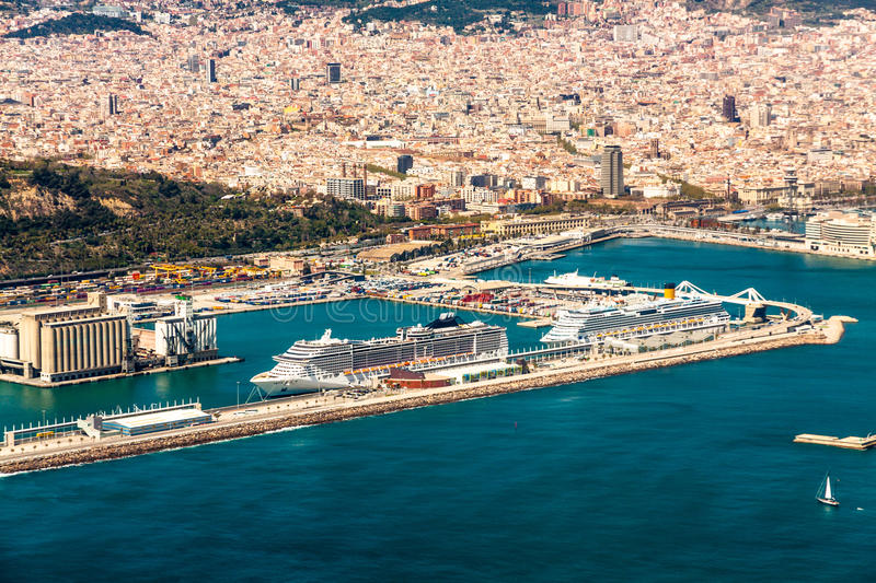 Barcelona port royalty free stock photography