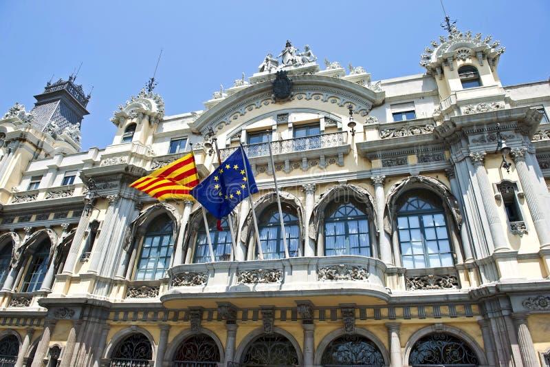 barcelona port de zdjęcie royalty free