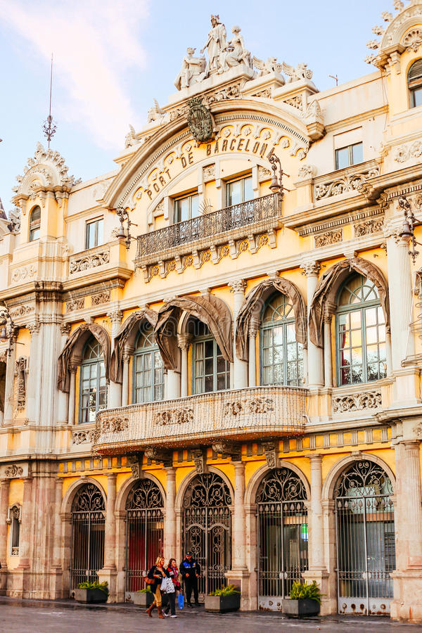 barcelona port de obraz royalty free