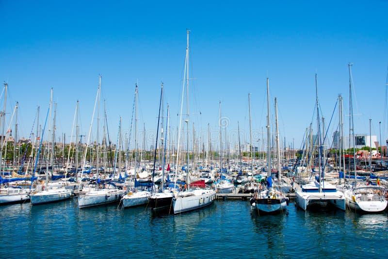 Barcelona port, Spain. royalty free stock photos