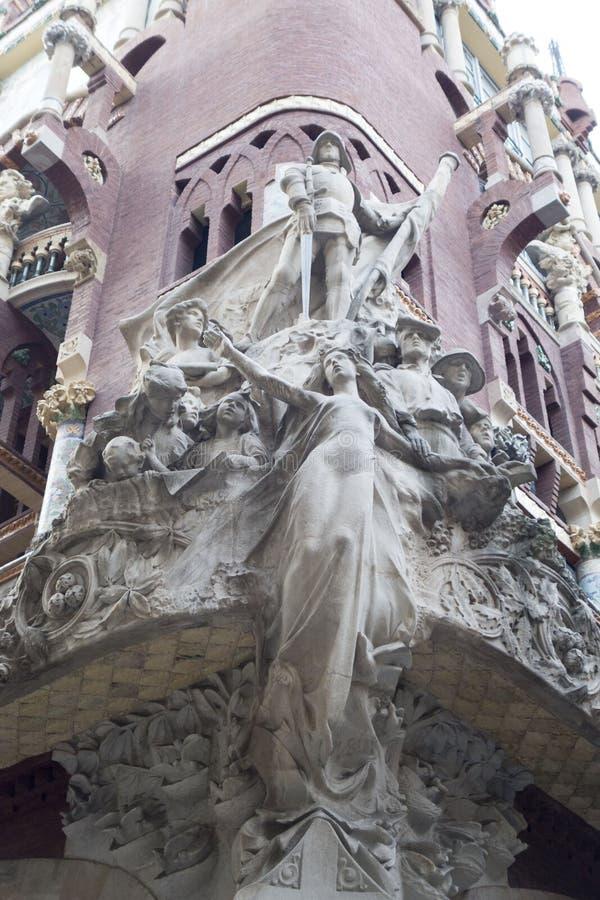 Barcelona powierzchowność zdjęcia royalty free
