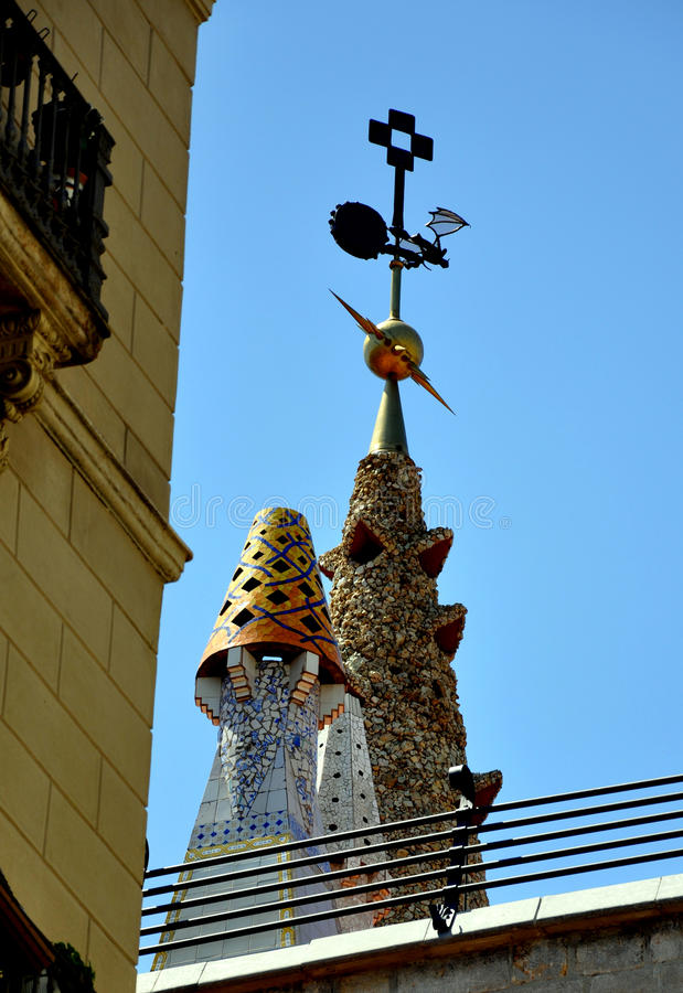 Download Barcelona Roof Decoration stock image. Image of modernist - 11068611