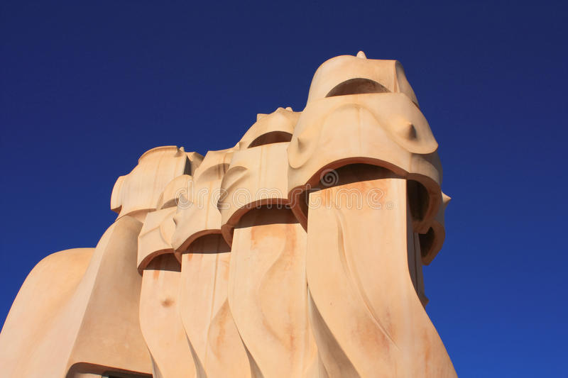 Download Barcelona. Roof Guardian By Gaudi Editorial Photography - Image: 12072177
