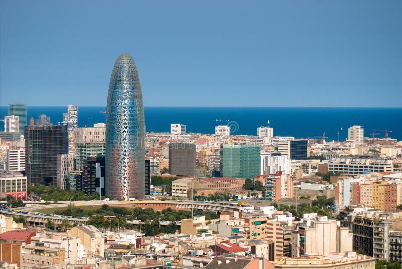 Barcelona's landscape stock photo