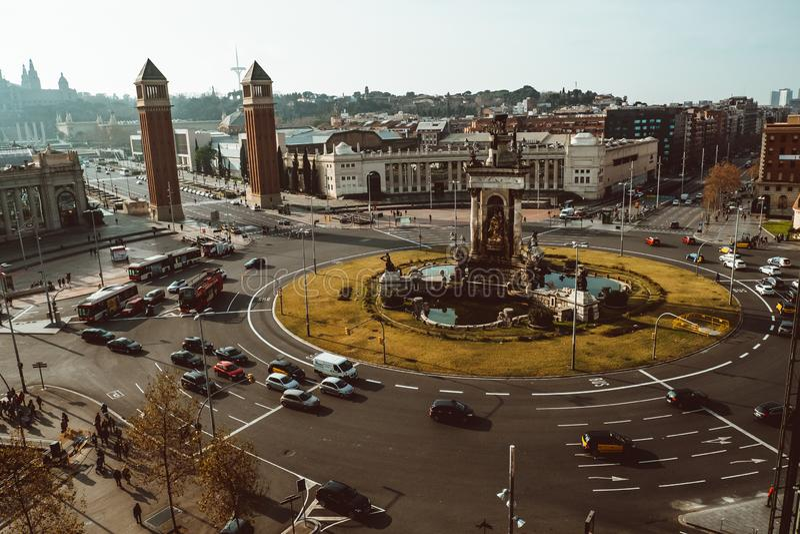 BARCELONA s-medborgare Art Museum av Catalonia royaltyfri foto
