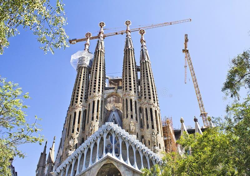 Barcelona ` s Sagrada Familia royaltyfri bild