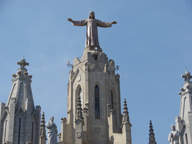 Barcelona's Tibidabo royalty free stock images