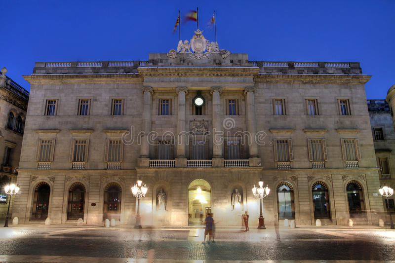 Barcelona's Town Hall, Spain royalty free stock images