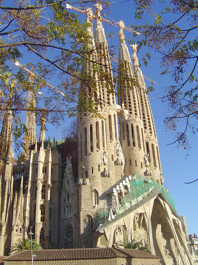 Barcelona Sagrada Familia royalty free stock photography