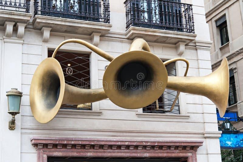 Barcelona, Santa Eulalia sklep fotografia royalty free
