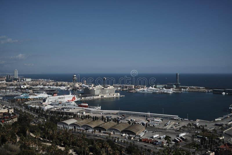 Barcelona sea side stock image