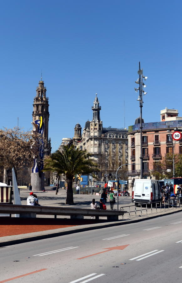 Barcelona is the second largest city in Spain, the capital of the Autonomous region of Catalonia and of the province. stock image