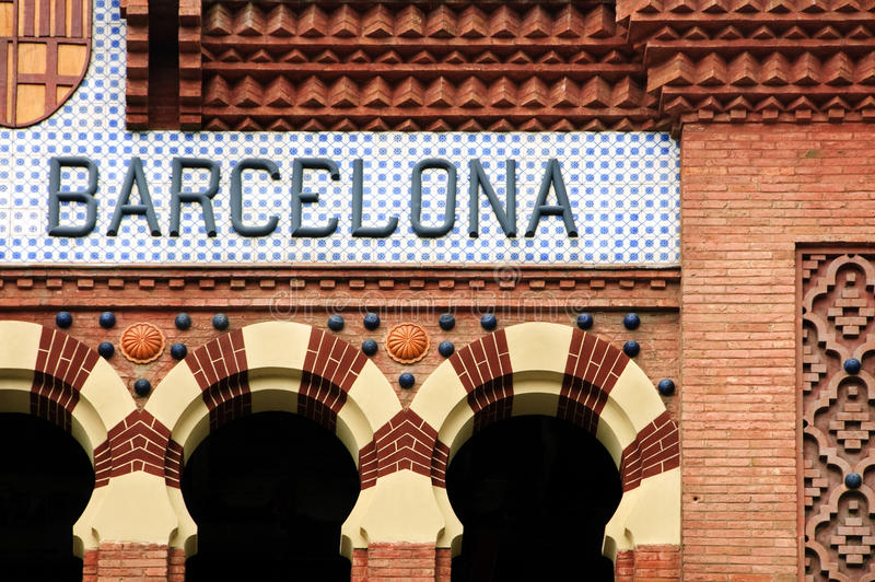 Download Barcelona sign stock photo. Image of signal, architecture - 13027582